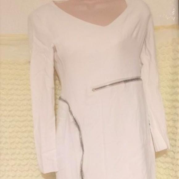 0d46bc2f5bb3a Tom Ford Dresses | Zipper Dress White Size 38 74 | Poshmark